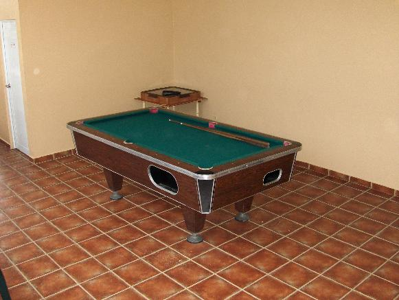 For your entertainment, our facilities have a pool table and two domino tables